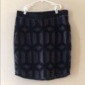 Blue and black H&M skirt